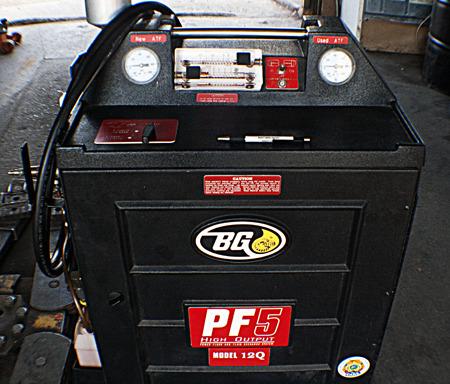 bg pf5 transmission flush machine